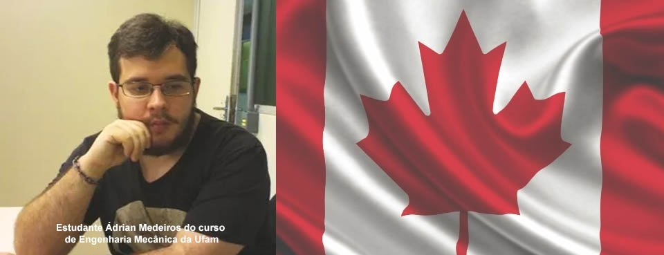 Discente do Curso de Engenharia Mecânica recebe aceite para realizar intercâmbio no Canadá.