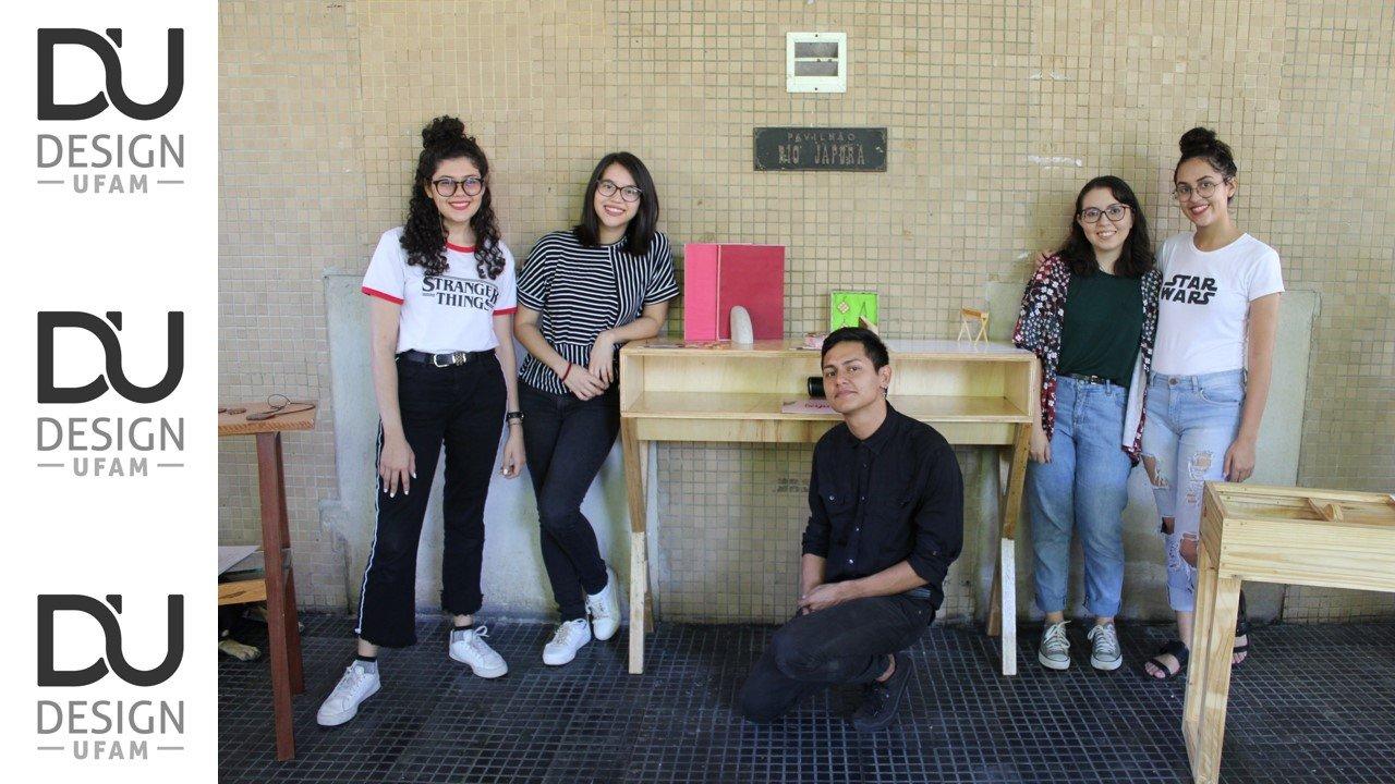 Alunos do curso de Design expõem artefatos feitos com madeira reutilizada